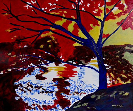 Blue Tree by Karen Brumelle